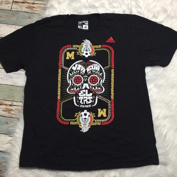 460d133783a adidas Shirts   Soccer Viva Mexico Xl Tshirt El Tri Skull   Poshmark